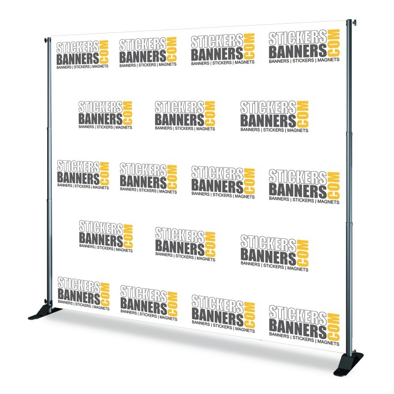 StickersBanners Custom Step and Repeat with one logo