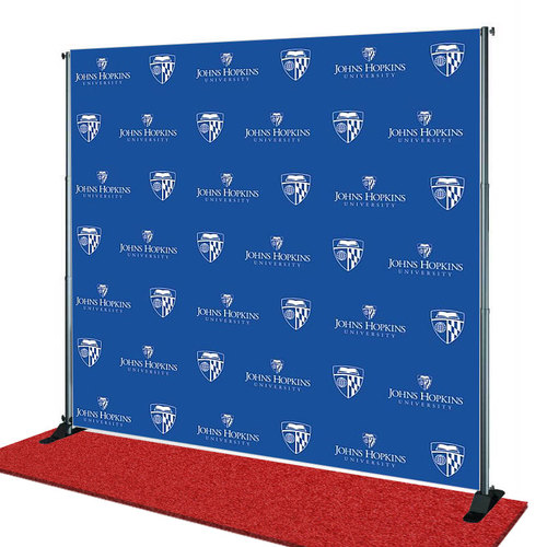 John Hopkins University Education Step and Repeat Banner from StickersBanners